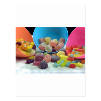 Sweets and candy postcard