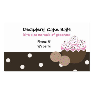 Sweets and Treats Baking Design Business Card