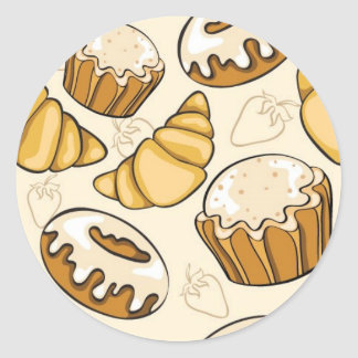 Sweets and Treats Classic Round Sticker