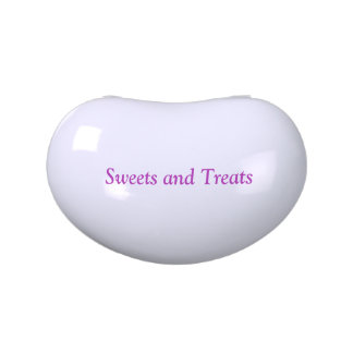 """""""Sweets and Treats"""" Jelly Bean Shaped Jelly Tin Candy Tins"""