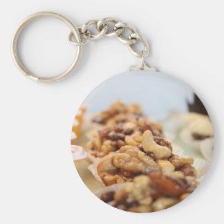sweets basic round button keychain