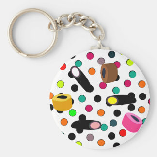 sweets candy basic round button keychain