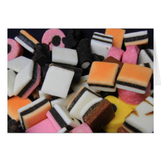 Sweets candy liquorice Allsorts  smarties Card