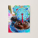 Sweets Cupcake Cake Party Shower Congratulations Jigsaw Puzzle