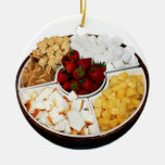 Sweets for Chocolate Fondue Double-Sided Ceramic Round Christmas Ornament