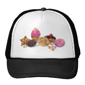 Sweets made by triangles hat