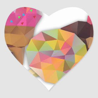 Sweets made by triangles heart sticker