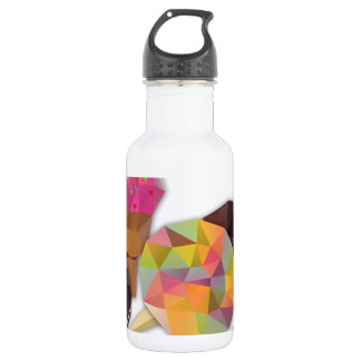 Sweets made by triangles stainless steel water bottle