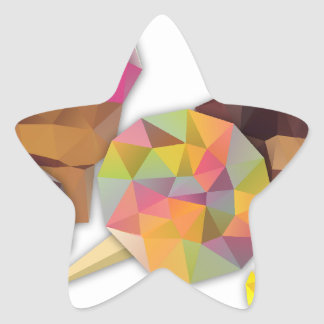 Sweets made by triangles star sticker