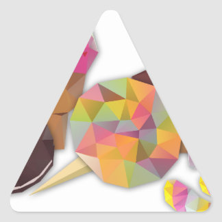 Sweets made by triangles triangle sticker