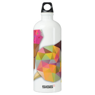 Sweets made by triangles water bottle
