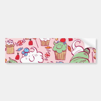 Sweets on Pink Car Bumper Sticker