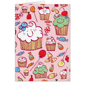 Sweets on Pink Greeting Card