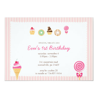 Sweets, Treats & First Birthdays Card