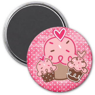 Sweets & Treats Oh So Delightful!! 3 Inch Round Magnet