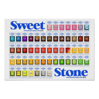 SweetStone Candy Flavor List Poster