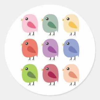 SweetTweet Birds Classic Round Sticker