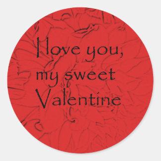sweetvalentine classic round sticker