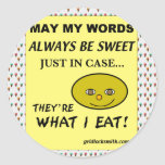 SweetWords Round Stickers