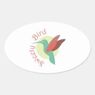Sweety Bird Oval Sticker