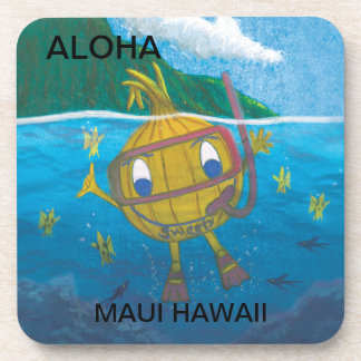 SWEETY ONION SNORKELING IN MAUI, HAWAII DRINK COASTER
