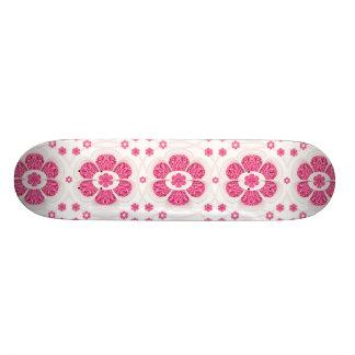 Sweety Pink Floral Pattern Skateboard