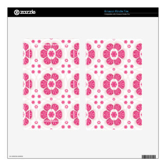 Sweety Pink Floral Pattern Kindle Fire Decals