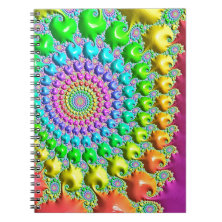 sweety special fractal,neon spiral note book