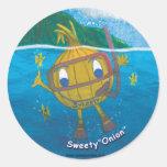 sweetyonion snorkeling round stickers