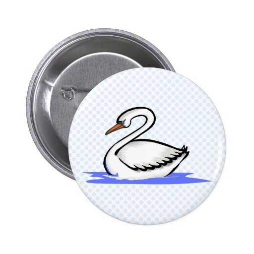 Swekka Swan 2 Inch Round Button