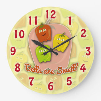 Swell Bell Peppers Large Clock