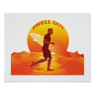 Swell Guy Surfer Poster