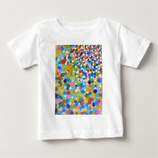 SWEPT AWAY 1 - Bright Colorful Rainbow Blue Ocean Baby T-Shirt