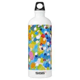 SWEPT AWAY 1 - Bright Colorful Rainbow Blue Ocean SIGG Traveler 1.0L Water Bottle