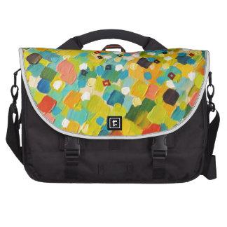 SWEPT AWAY 3 - Fresh Green Colorful Rainbow Ocean Laptop Commuter Bag