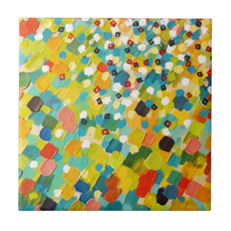 SWEPT AWAY 3 - Fresh Green Colorful Rainbow Ocean Tile