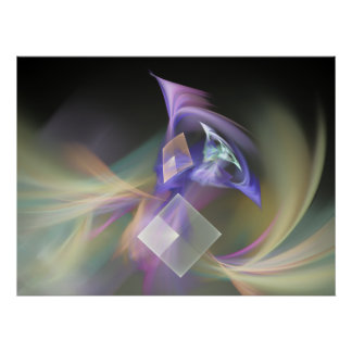 Swept Away Abstract Fractal Art Posters