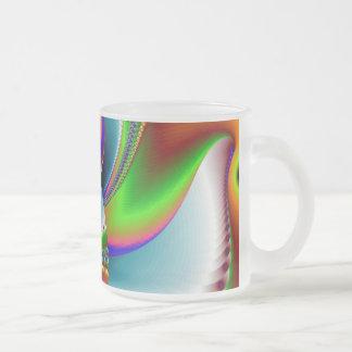Swept Away Frosted Glass Coffee Mug