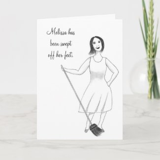 Swept Off Her Feet Bridal Shower Invitations Card