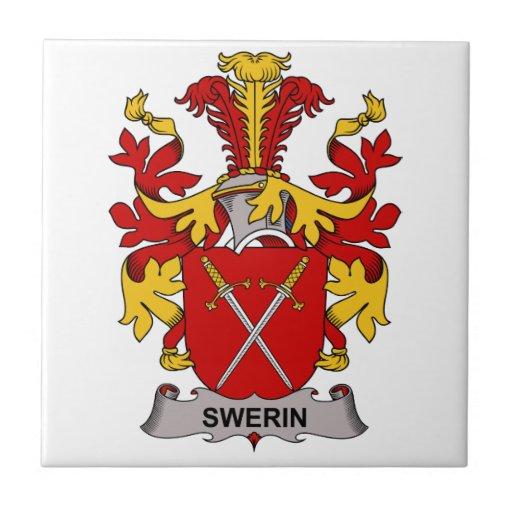 Swerin Family Crest Ceramic Tile