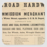 Swetland, Pratt y Company Pegatina Cuadrada