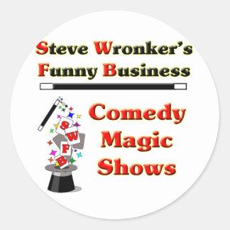 SWFB magic show logo Classic Round Sticker