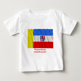Świętokrzyskie - bandera que agita cruzada santa camiseta