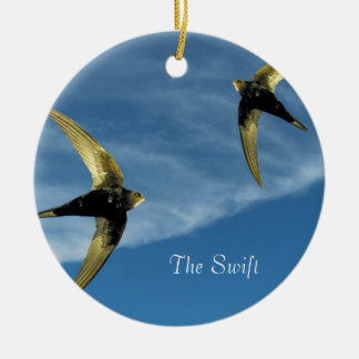 Swift Bird Image for Circle Ornament