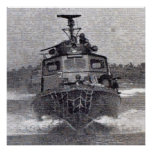 Swift Boat Photo Mosaic Poster