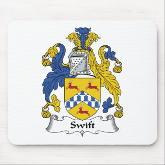 Swift Family Crest Mouse Pad