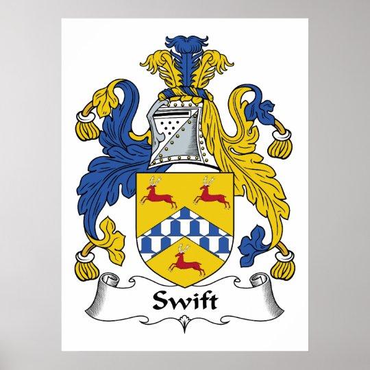 Swift Family Crest Poster