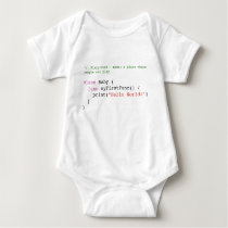 Swift Hello World baby Jersey Body, white Baby Bodysuit