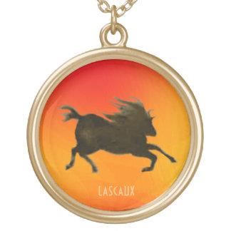 Swift Horse of Lascaux Round Pendant Necklace