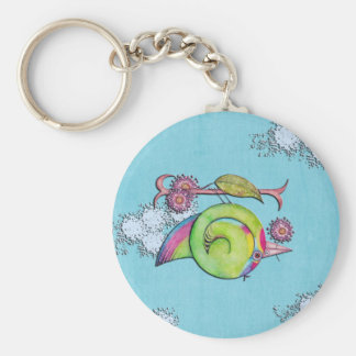 Swift Parrot Sky Keychain